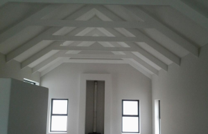 HRS ROOFING exposed timber rafter trusses in cape town west coast caledon robertson langebaan hermanus trussses IBR corrugated roof sheeting colorbond ZINCAL ZINCALUME concrete roof tiles 300x194 - Timber Trusses