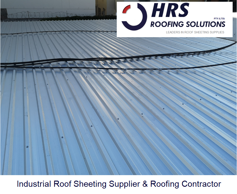 HRS roofing Industrial Roof Stellenbosch. IBR and corrugated roof sheeting cape town. Diamondek 407 concealed fix and clip lock roof sheets