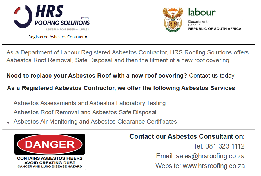 Asbestos Removal and Asbestos Disposal in Paarl, Stelllenbosch, Cape Town, Paardein Eiland, Epping, Montagie Gardens and Wynberg 1