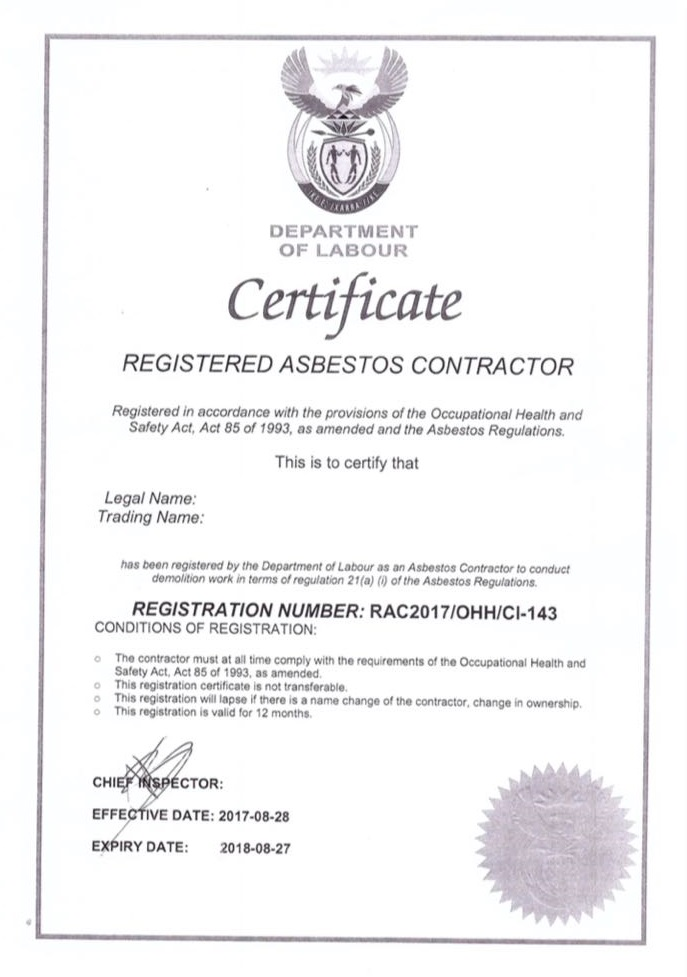 Asbestos Roof Removal Cape Town, HRS roofing