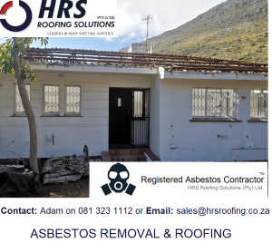 Asbestos Roof Removal Cape Town Stellenbosch paarl paardein eiland montague gardens bellville parow. Asbestos roof removal and asbestos disposal durbanville ottery western cape1 300x278 - Asbestos Roof Removal & Disposal