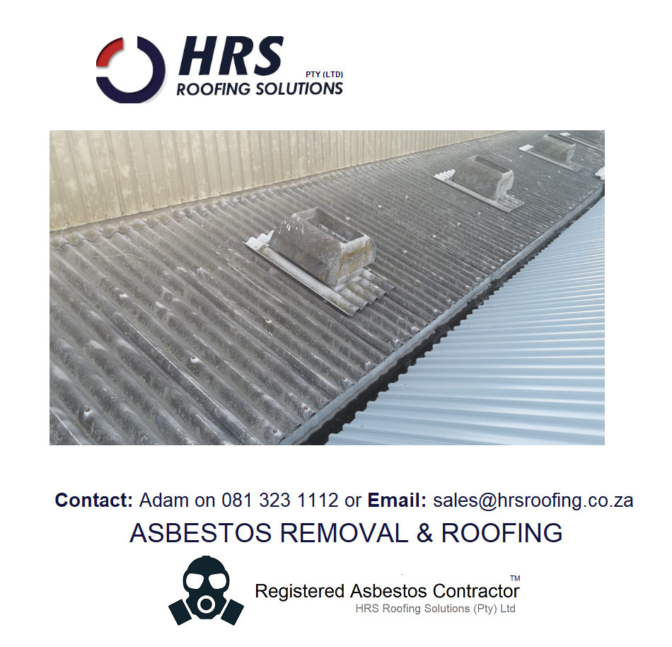 Asbestos removal cape town, asbestos roof removal cape town, asbestos removal paarl, asbestos removal fish hoek, IBR reroofing cape town, IBR and corrugated rof sheets zincalume and colorbo3