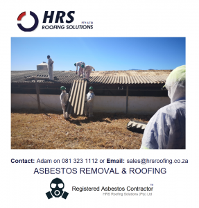 Asbestos removal cape town, asbestos roof removal cape town, asbestos removal paarl, asbestos removal fish hoek, IBR reroofing cape town, IBR and corrugated rof sheets zincalume and colorbon1120