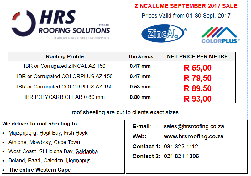 Roof Sheeting Amp Ibr Roof Sheeting In Cape Town Junk Mail