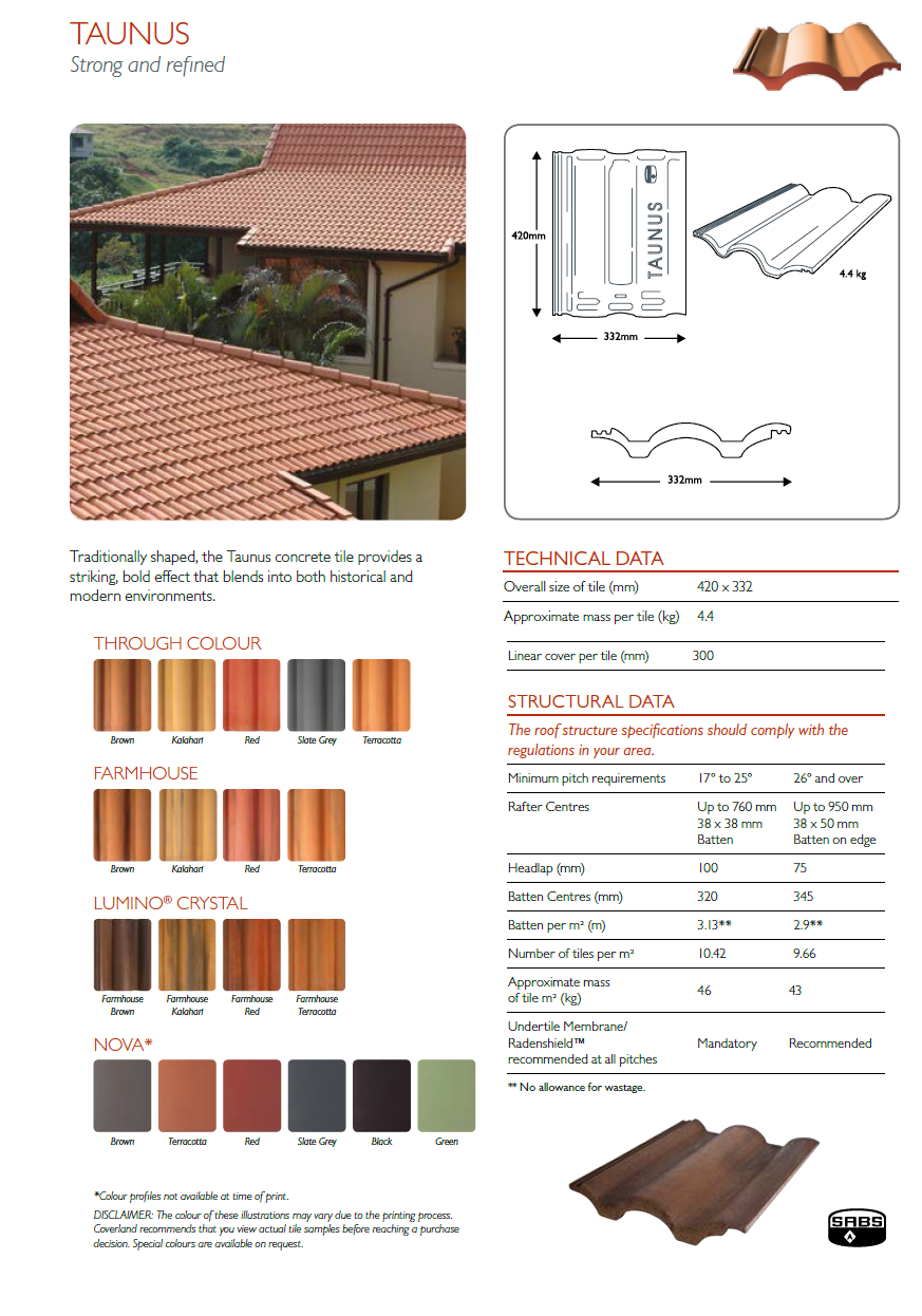 Double Roman roof tiles cape town paarl stellenbosch roof tile concrete roof tiles slate roof tiles stellenbosch perspective roof tile - Concrete Roof Tiles