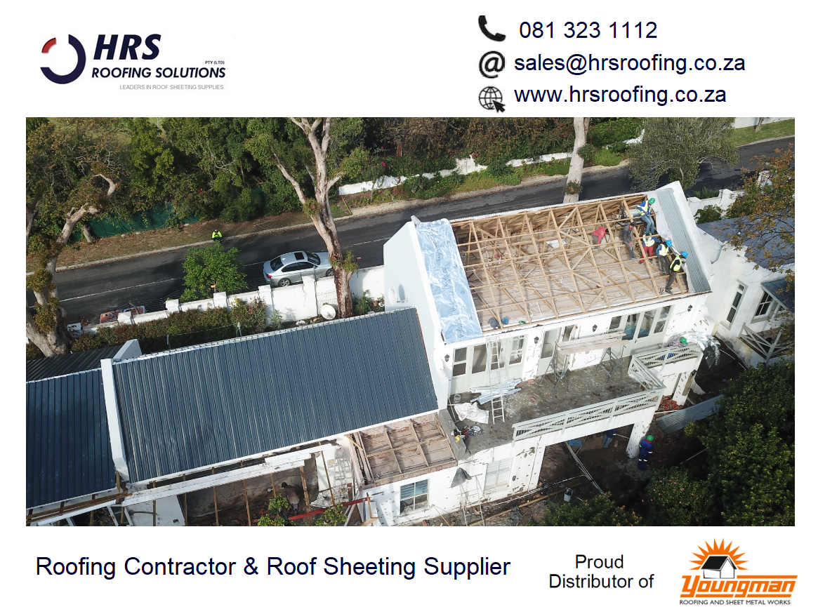 HRS Roofing Solutions Roofing Contractor Cape Town Diamondek 407 roof sheeting IBR corrugated colorbond somerset west parklands - Roofing Gallery