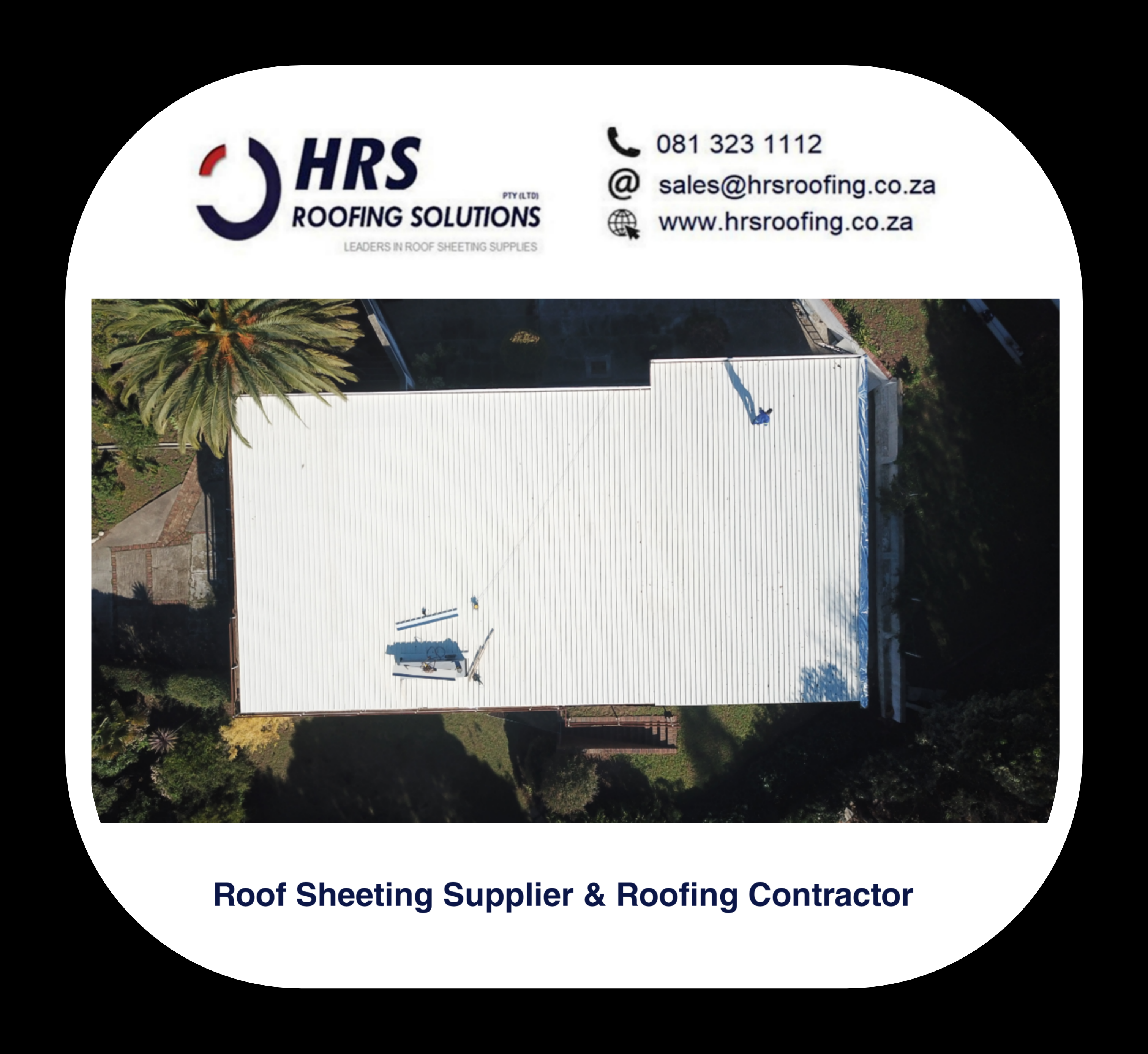 bullnose and cranked roof sheeting cape Town Zincalume Colorbond hrs roofing 5