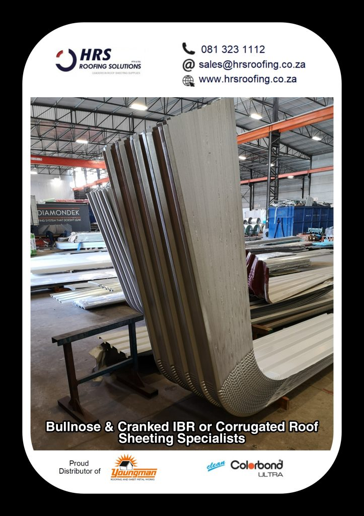 bullnose and cranked roof sheeting cape Town Zincalume Colorbond hrs roofing 723x1024 - Roofing Gallery
