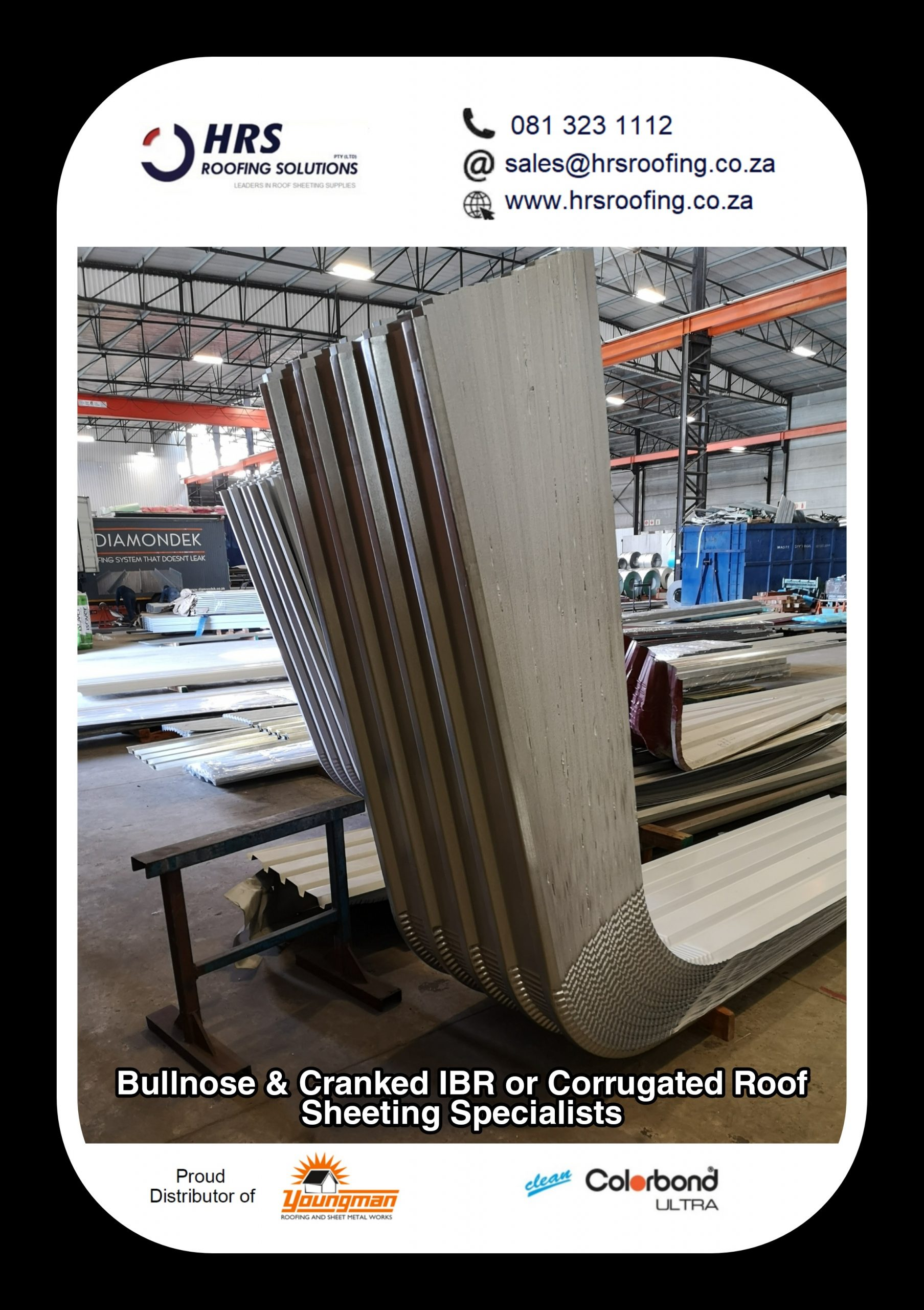 bullnose and cranked roof sheeting cape Town Zincalume Colorbond hrs roofing scaled - Roofing Gallery