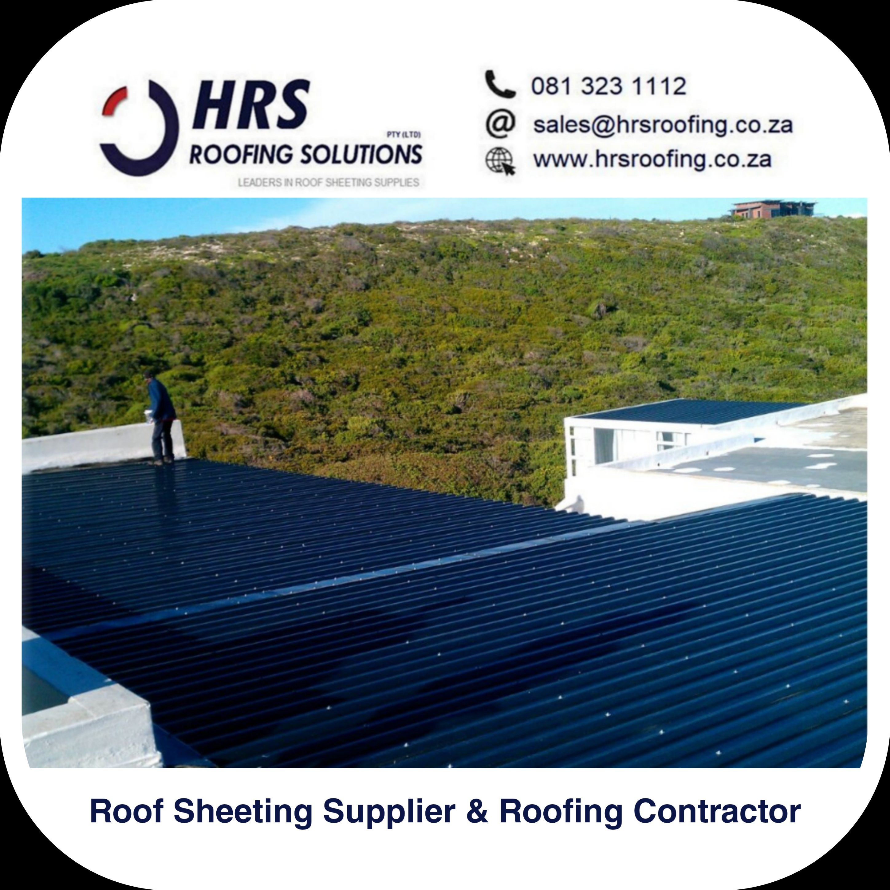 bullnose and cranked roof sheeting cape Town Zincalume Colorbond hrs roofing1
