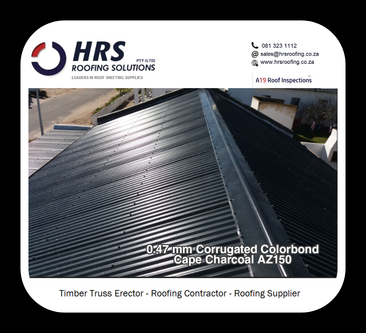 corrugated Colorbond roof sheeting cape town Durbanville hrs roofing solutions - Roofing Gallery