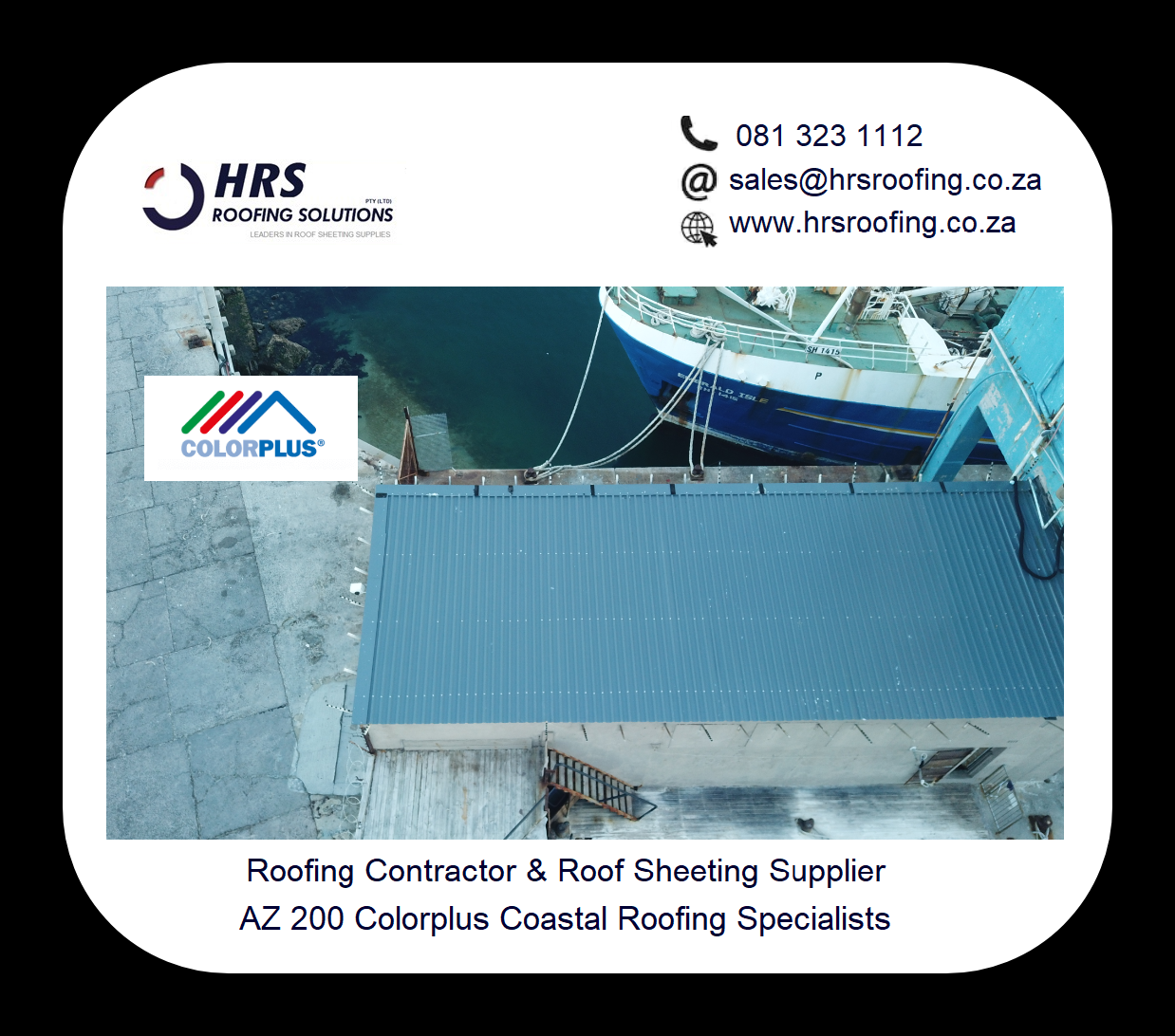 ibr Colorplus or Zincalume roof sheeting cape town hrs roofing solutions 081 323 - Roofing Gallery