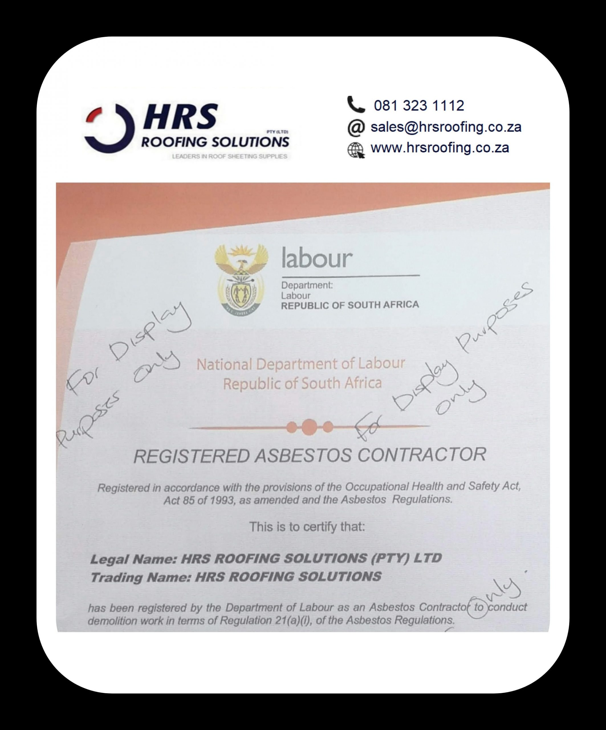 registered Asbestos Contractor cape Town roofing contractors cape Town