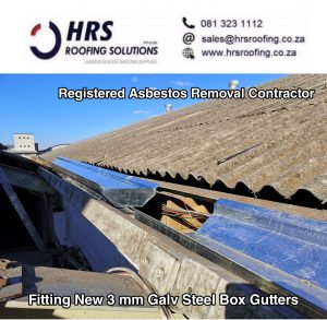 hrs roofing solutions Asbestos roof removals roofing contractor galv steel gutter 300x293 - Asbestos Removal
