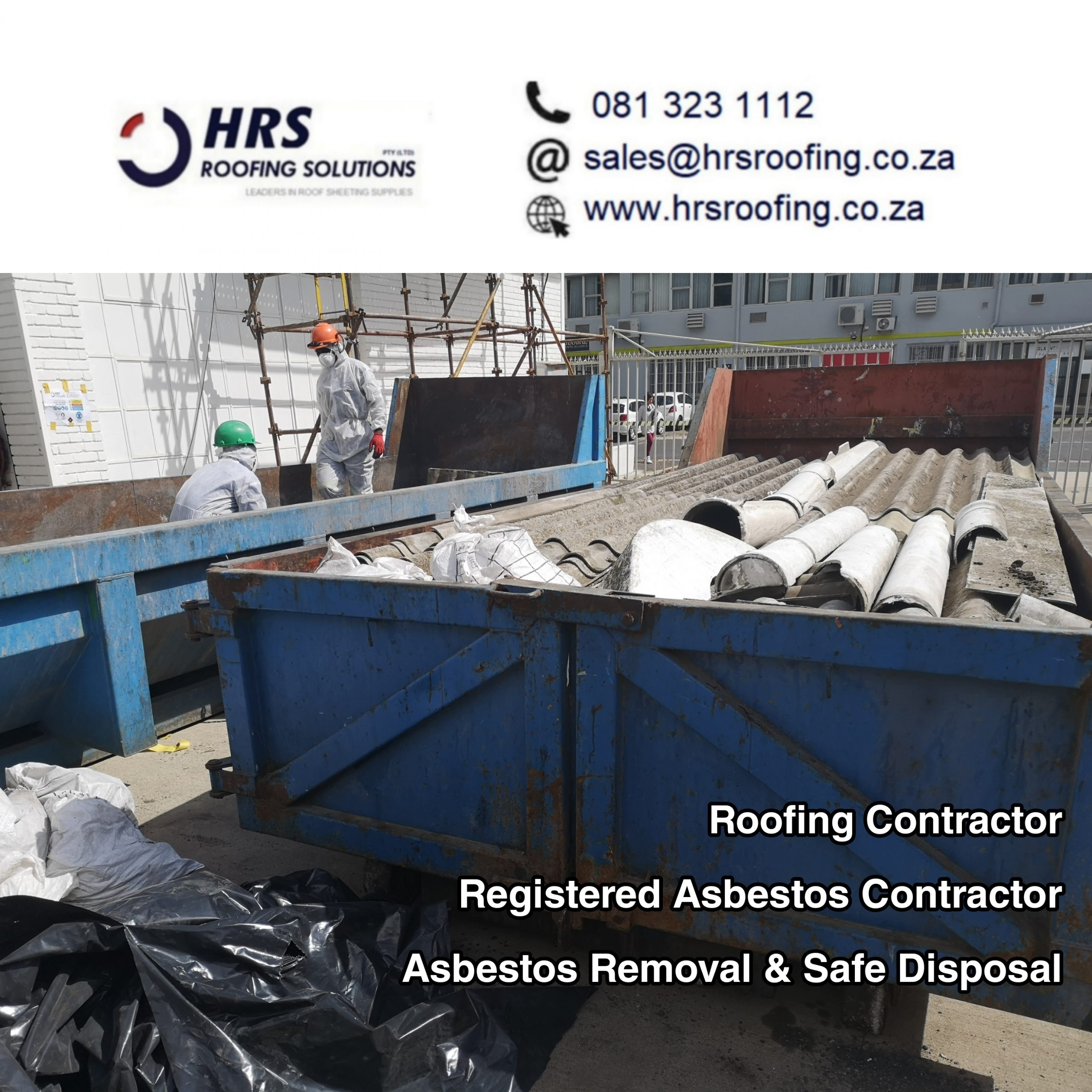 hrs roofing solutions registered Asbestos Contractor cape Town Asbestos disposal