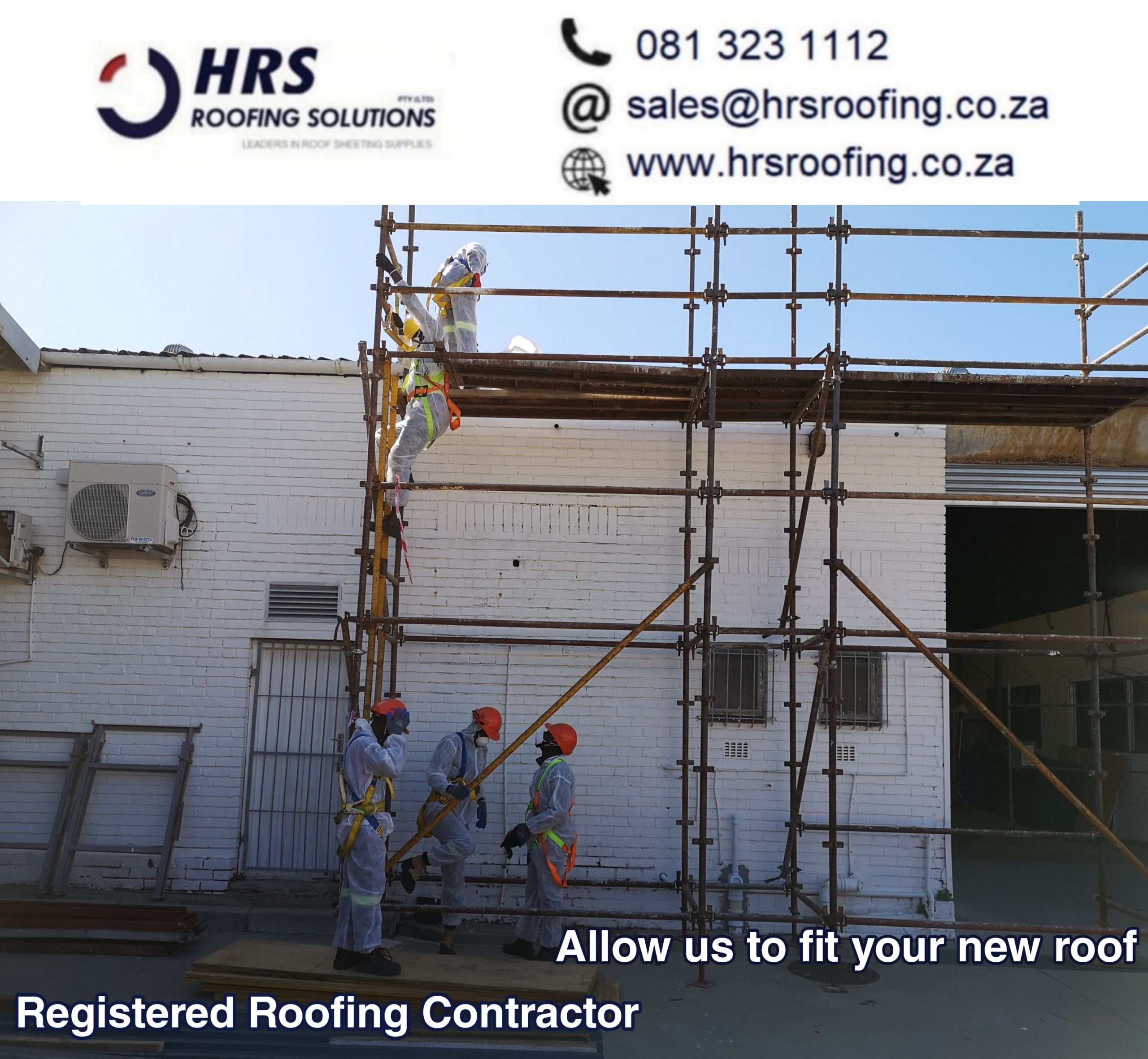 registered Asbestos Contractor hrs roofing solutions cape Town