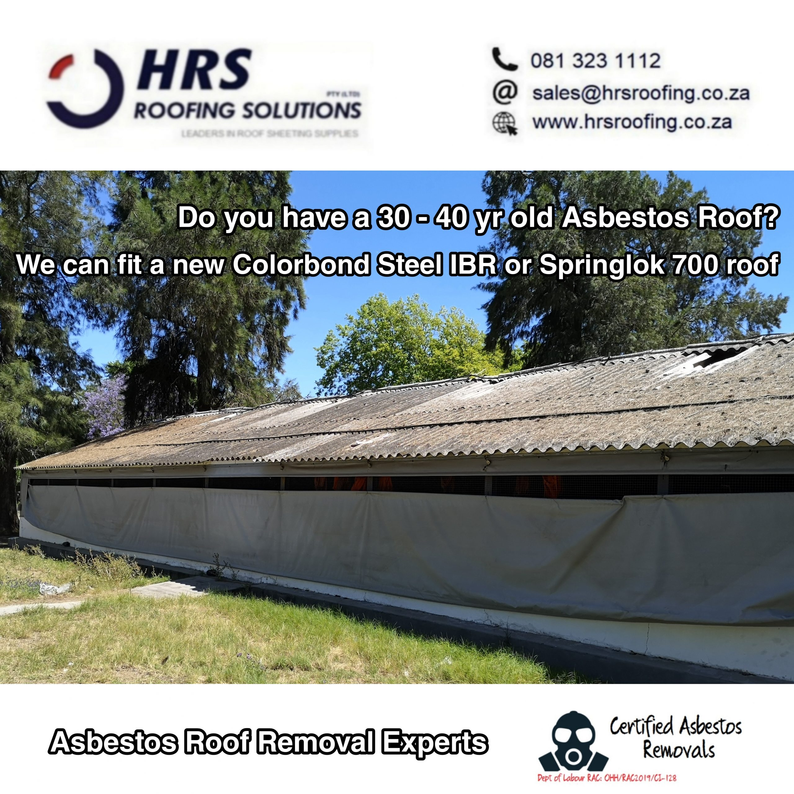 Asbestos roof Removal Cape Town, Stellenbosch, table view, parow Asbestos dumping
