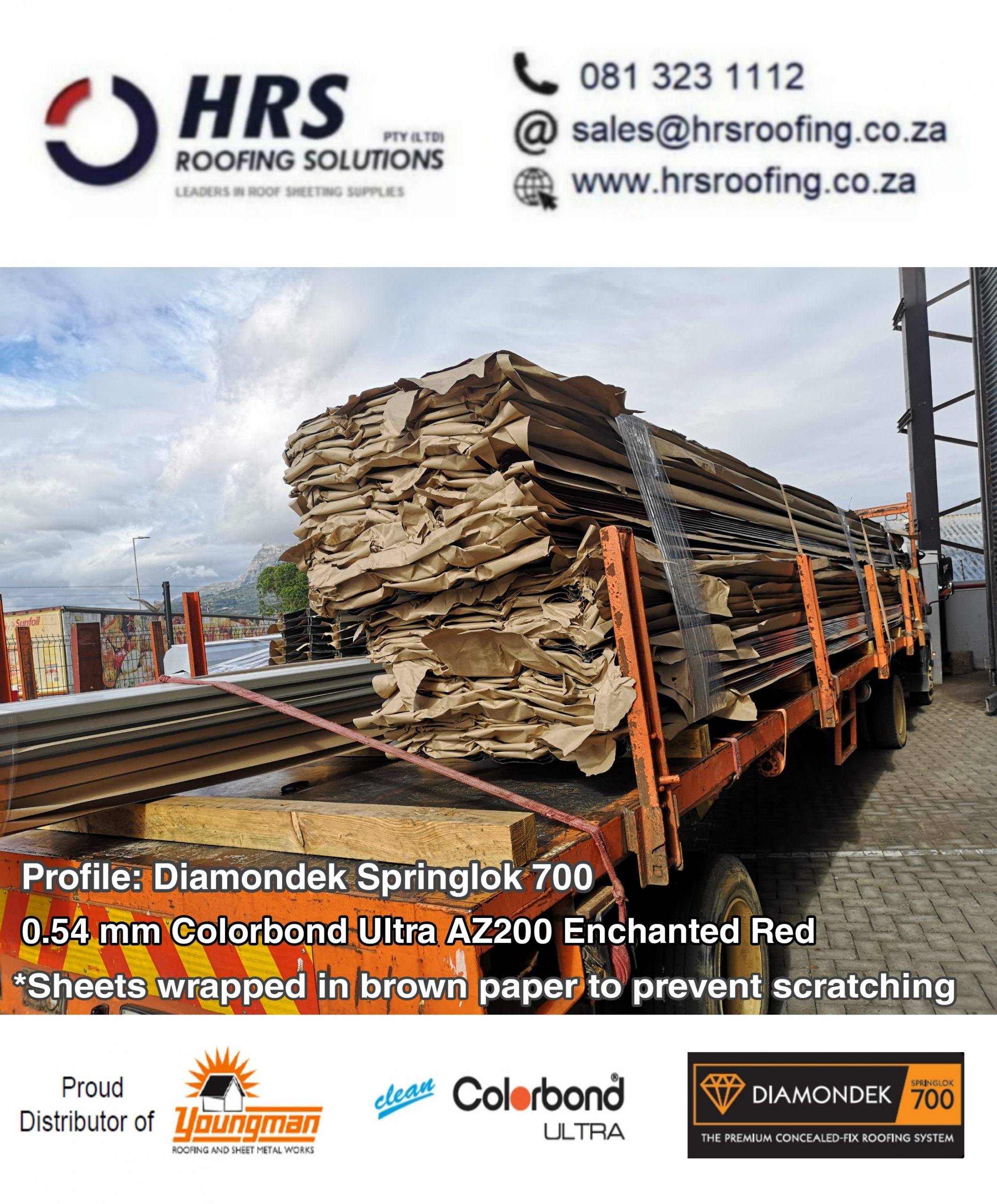 Springlok 700 Colorbond roof sheet cape town Constantia table view hrs roofing1 scaled - Roofing Gallery