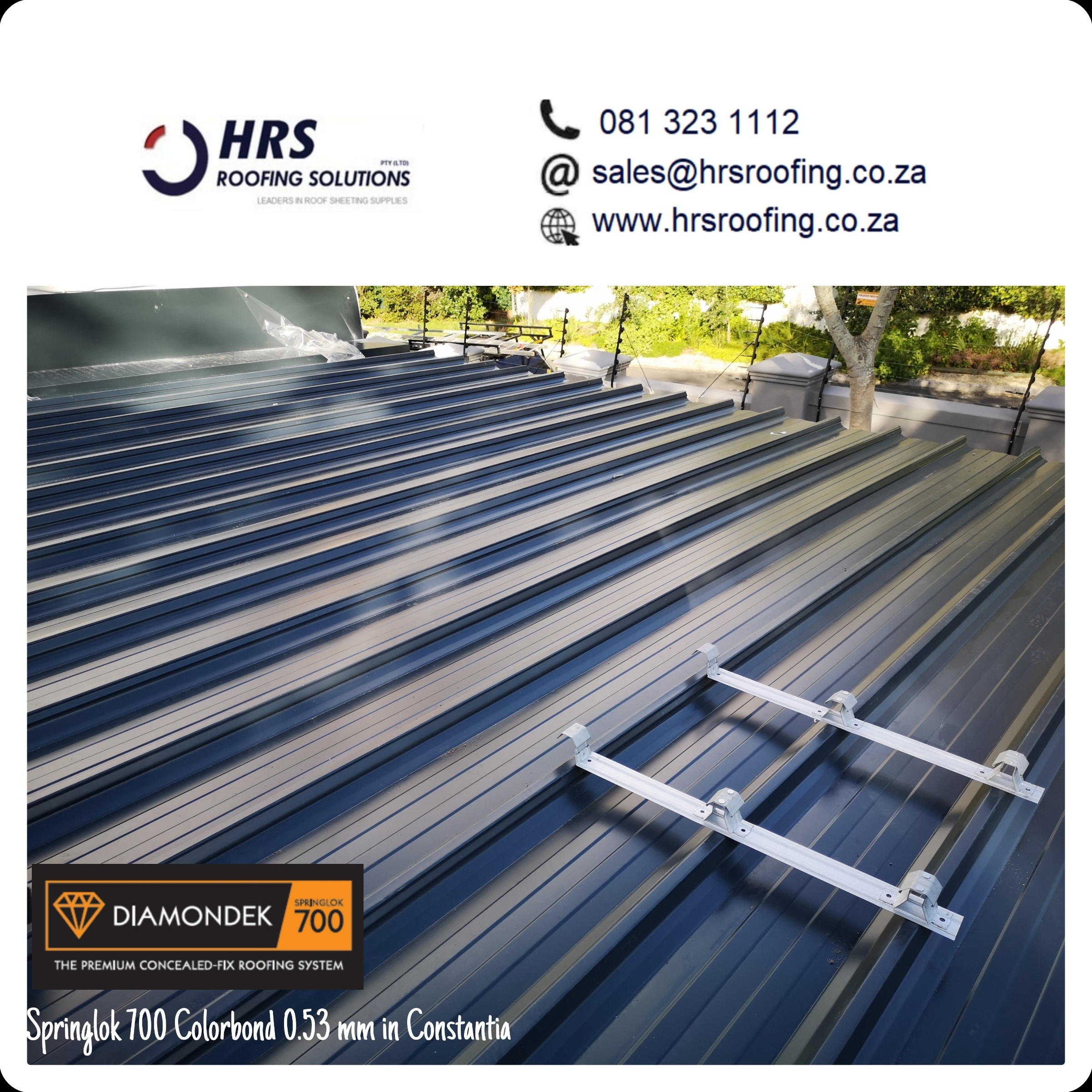 Springlok 700 Colorbond roof sheet cape town Constantia table view hrs roofing2 - Roofing Gallery