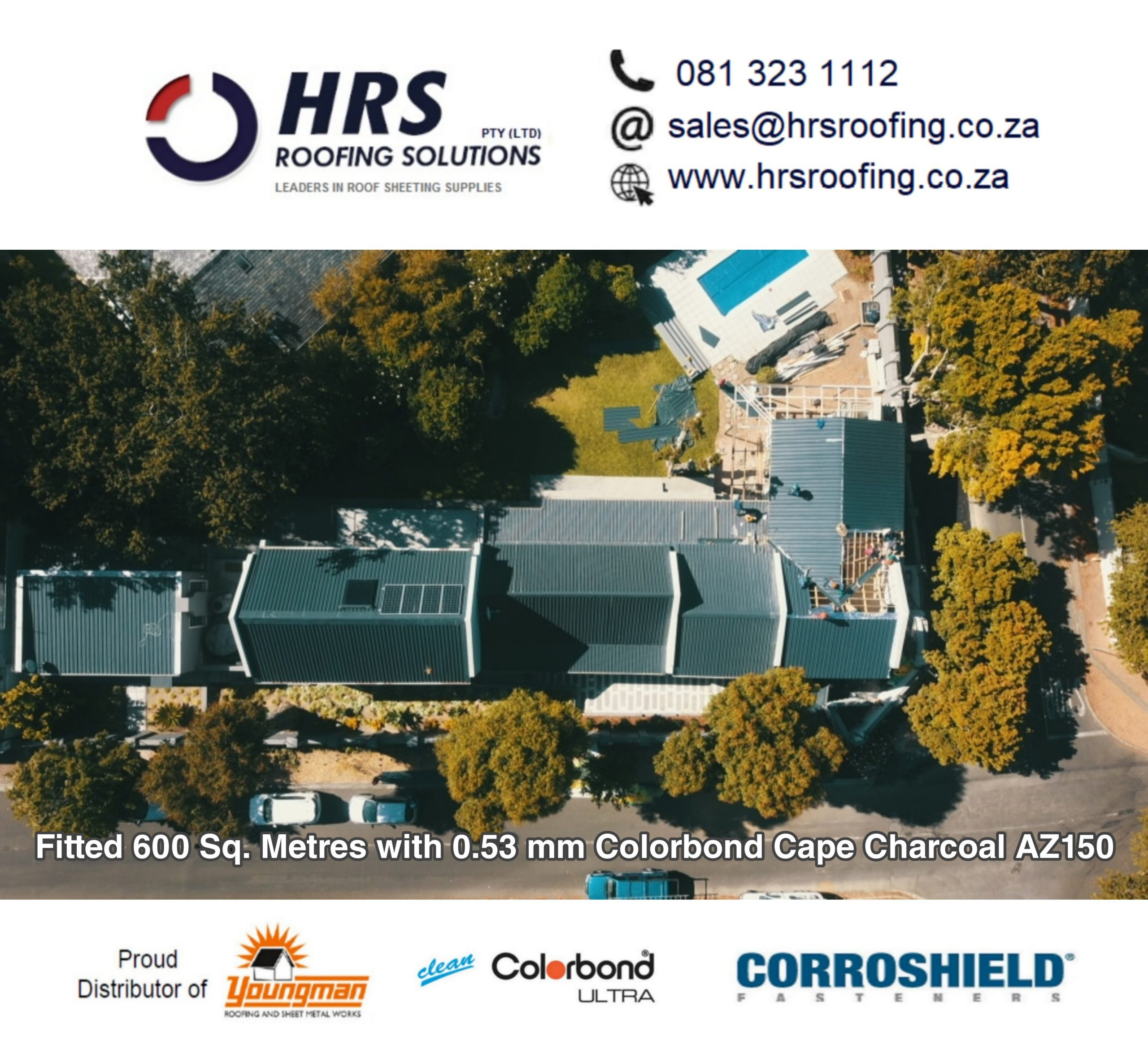 Springlok 700 Colorbond roof sheet cape town hrs roofing solutions Durbanville