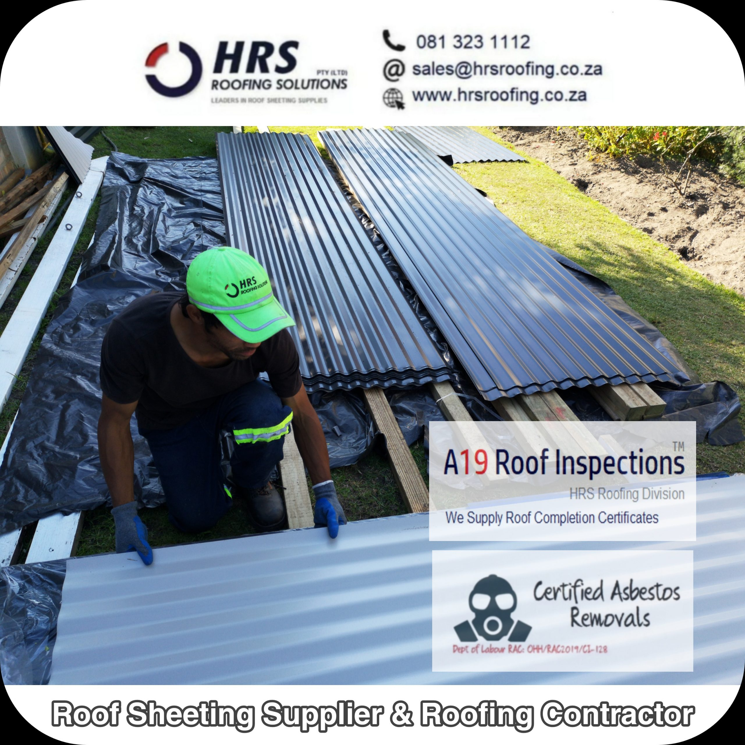 ibr corrugated colorbond Charcoal roof sheets Worcester Wellington