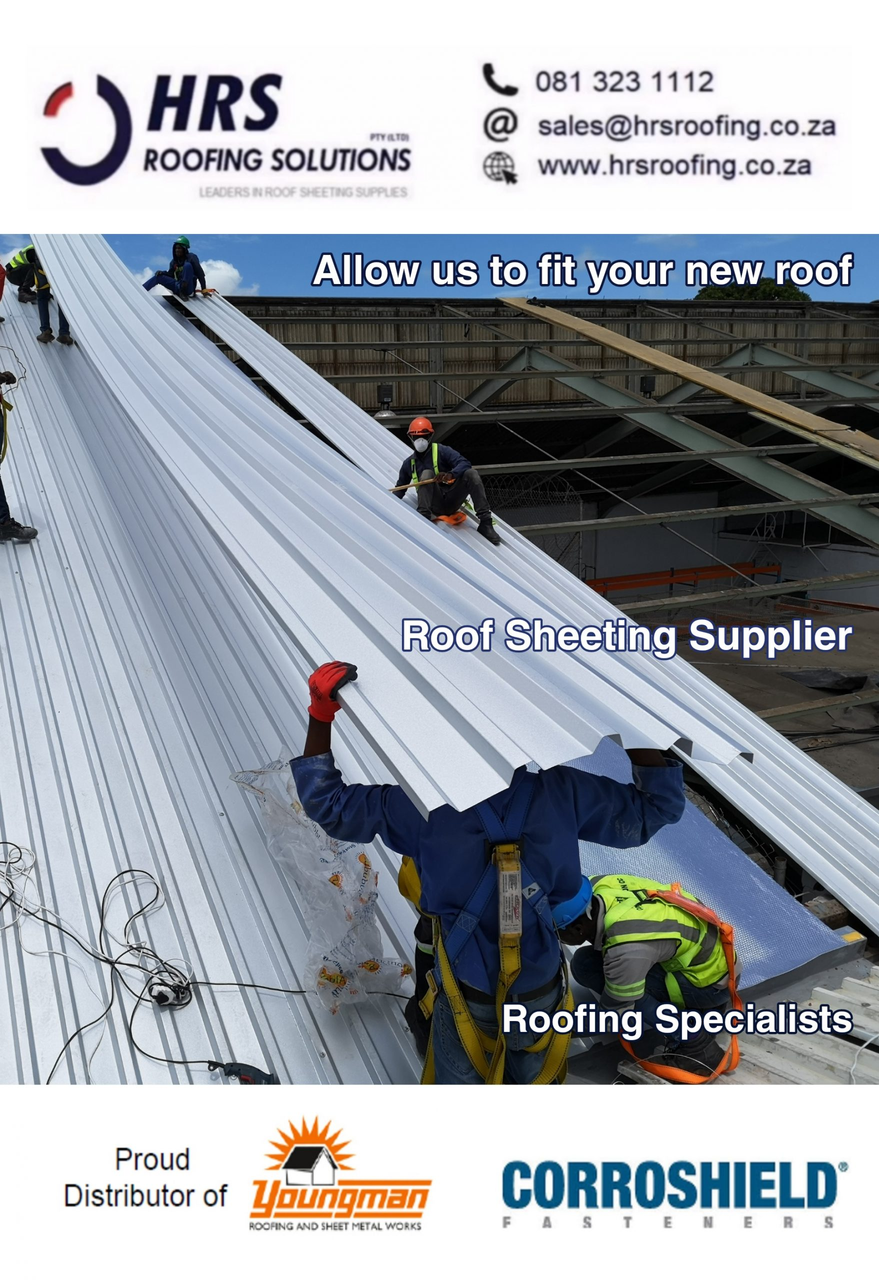 roofing Contractors cape Town hrs roofing roof sheeting ibr or Corrugated Colorbon scaled - Roofing Gallery
